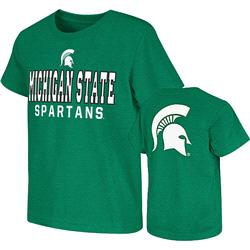 Michigan State Spartans Green Kids 4-7 Platform Dual-Blend T-Shirt