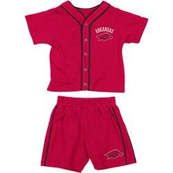 Arkansas Razorbacks Cardinal Infant Outfield T-shirt and Shorts Set