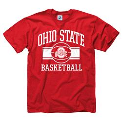 Ohio State Buckeyes Youth Wide Stripe Basketball T-Shirt