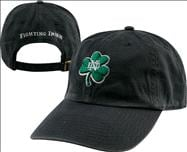 Notre Dame Fighting Irish '47 Brand Navy Shamrock Garment Washed Adjustable Hat