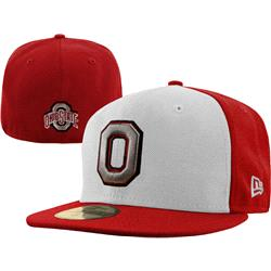 Ohio State Buckeyes New Era White/Red 59FIFTY Fitted Hat