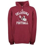 Oklahoma Sooners adidas Red Football Helmet Patch Hooded Sweatshirt