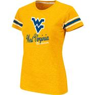 West Virginia Mountaineers Women's Gold Backspin Slub Knit T-Shirt