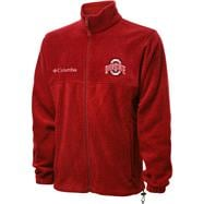 Ohio State Buckeyes Red Columbia Flanker Full-Zip Jacket
