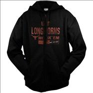 Texas Longhorns Big & Tall Daring Full Zip Hooded Sweatshirt