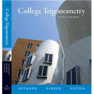 College Trigonometry,9780618825073