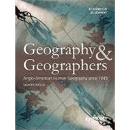 Geography and Geographers: Anglo-North American Human Geography since 1945,9780340985106