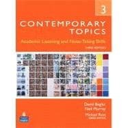 Contemporary Topics 3 Academic and Note-Taking Skills (Advanced)