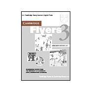 Cambridge Flyers 3 Answer Booklet: Examination Papers from the University of Cambridge Local Examinations Syndicate