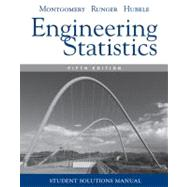Engineering Statistics, Student Solutions Manual , 5th Edition