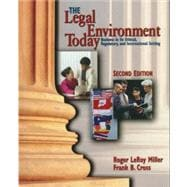 Legal Environment Today : Business in Its Ethical, Regulatory and International Setting,9780538885348