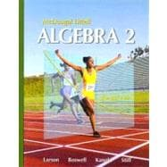 Algebra 2, Grades 9-12: Mcdougal Littell High School Math,9780618595419