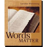 Words Matter With Student Cd-rom