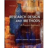 Research Design and Methods : A Process Approach,9780078035456
