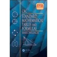 CRC Standard Mathematical Tables and Formulae, 32nd Edition, 9781439835487  