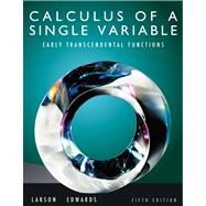 Calculus of a Single Variable : Early Transcendental Functions,9780538735520
