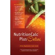 NutritionCalc Plus Online Student Access Card Updated with MyPlate