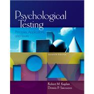 Psychological Testing Principles, Applications, and Issues