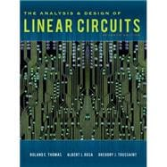 The Analysis and Design of Linear Circuits, 7th Edition,9781118065587