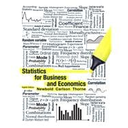 Statistics for Business and Economics,9780132745659
