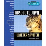 Absolute Java,9780321205674