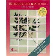 Statistics; Introductory Statistics: Alternate Version Featuring Minitab for Windows