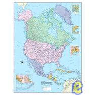 North America Laminated Map, 9780843715842