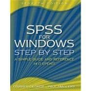 SPSS for Windows Step-by-Step : A Simple Guide and Reference, 14. 0 Update
