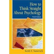 How To Think Straight About Psychology,9780205685905