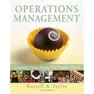 Operations Management: Creating Value Along the Supply Chain, 7th Edition,9780470525906