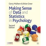 Making Sense of Data and Statistics in Psychology,9780230205925