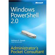 Windows PowerShell 2.0: Administrator's Pocket Consultant, 9780735625952  