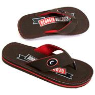 Georgia Bulldogs Canvas Flip Flops