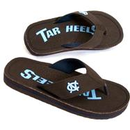 North Carolina Tar Heels Canvas Flip Flops