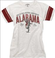 Alabama Crimson Tide 47 Brand Women's BCS National Championship Game White Wash Game Time T-Shirt