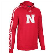 Nebraska Cornhuskers adidas 2012 Red Toddler Sideline Swagger Hooded Sweatshirt