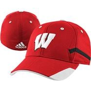 Wisconsin Badgers adidas Red Youth Structued Flex Hat