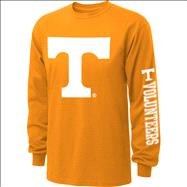 Tennessee Volunteers  Tenn Orange Youth Double Hit II Long Sleeve T-Shirt