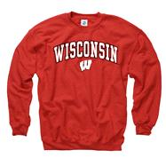 Wisconsin Badgers Youth Red Perennial II Crewneck Sweatshirt