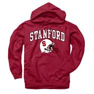 Stanford Cardinal Cardinal Football Helmet Hooded Sweatshirt