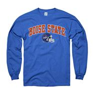 Boise State Broncos Youth Royal Football Helmet Long Sleeve T-Shirt