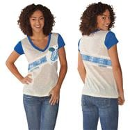 Florida Gators Women's Royal Zone Coverage Deep V-Neck T-Shirt