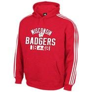 Wisconsin Badgers adidas Red 3-Stripe Hoodie