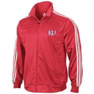 Kansas Jayhawks adidas Red 3-Stripe Track Jacket
