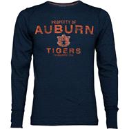 Auburn Tigers Navy Classic Slub Long Sleeve Crew