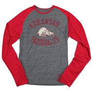 Arkansas Razorbacks Red adidas Originals Gym Class Tri-Blend Long Sleeve Tee