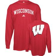 Wisconsin Badgers Red adidas Relentless Long Sleeve T-Shirt