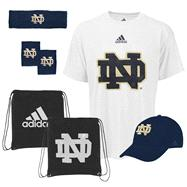 Notre Dame Fighting Irish adidas Pick-Up Game 5-PC Combo Pack