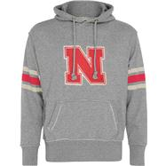 Nebraska Cornhuskers Youth Heather Grey Bolt Pullover Hooded Sweatshirt
