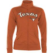Texas Longhorns Women's Dark Orange Pacer French Terry Track Jacket